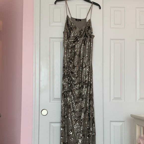 Parker Dresses & Skirts - Pewter Sequin Gown